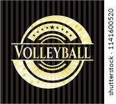 volleyball gold shiny emblem   Shutterstock .eps vector #1141600520