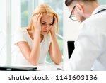 male doctor is talking to...   Shutterstock . vector #1141603136