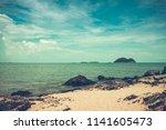 landscape of peaceful seascape. ...   Shutterstock . vector #1141605473