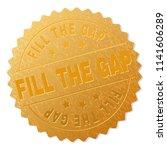 fill the gap gold stamp badge....   Shutterstock .eps vector #1141606289