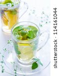 Green Tea With Mint And A Lemon