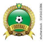 green football club logo bevel...   Shutterstock .eps vector #1141611086