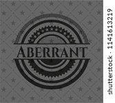 aberrant black emblem. vintage.   Shutterstock .eps vector #1141613219