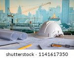architectural drawing plan with ... | Shutterstock . vector #1141617350