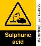 corrosive substance sign vector ...   Shutterstock .eps vector #1141618880