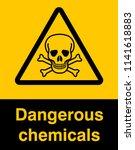 danger sign with skull symbol....   Shutterstock .eps vector #1141618883