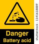 corrosive substance sign vector ... | Shutterstock .eps vector #1141618889