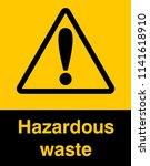 dangrous corrosive substance... | Shutterstock .eps vector #1141618910