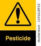 dangrous corrosive substance... | Shutterstock .eps vector #1141618913