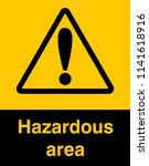 dangrous corrosive substance... | Shutterstock .eps vector #1141618916