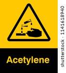 corrosive substance sign vector ...   Shutterstock .eps vector #1141618940