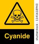 dangrous corrosive substance... | Shutterstock .eps vector #1141618943
