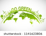 ecology concept with green city ... | Shutterstock .eps vector #1141623806