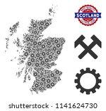 service scotland map... | Shutterstock .eps vector #1141624730