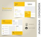 business bi fold brochure or... | Shutterstock .eps vector #1141626026