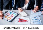 business meeting and discussing ... | Shutterstock . vector #1141631339