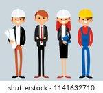 real estate development team.... | Shutterstock .eps vector #1141632710