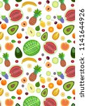 pattern from different types of ... | Shutterstock . vector #1141644926