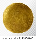 vector gold paint brush stroke  ...   Shutterstock .eps vector #1141650446
