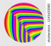multi colored striped ball | Shutterstock .eps vector #1141653080