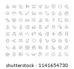 collection of line gray icons... | Shutterstock .eps vector #1141654730