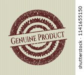 red genuine product distressed... | Shutterstock .eps vector #1141655150