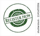 green register now rubber... | Shutterstock .eps vector #1141655306