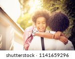 african american little girl in ... | Shutterstock . vector #1141659296