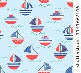 cute seamless pattern ... | Shutterstock .eps vector #1141662146