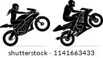 male and female ride sports... | Shutterstock .eps vector #1141663433
