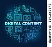 digital content round blue...   Shutterstock .eps vector #1141663676