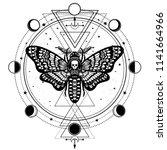 Mystical Drawing  Moth Dead...