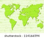 eco background with world map....