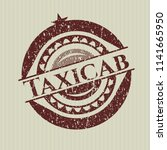 red taxicab distress rubber... | Shutterstock .eps vector #1141665950