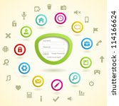 web icon set with log in form.... | Shutterstock .eps vector #114166624