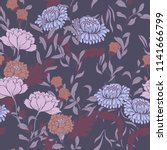 elegance pattern with flowers... | Shutterstock .eps vector #1141666799