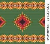 ethnic tribal seamless pattern. ... | Shutterstock .eps vector #1141679279