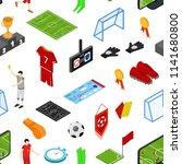 football or soccer game... | Shutterstock .eps vector #1141680800