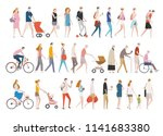 people in various styles of... | Shutterstock .eps vector #1141683380