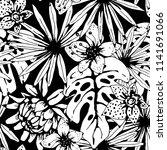 seamless pattern with tropical... | Shutterstock .eps vector #1141691066