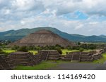 the pyramid of the sun  on the... | Shutterstock . vector #114169420