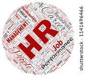 vector concept conceptual hr or ... | Shutterstock .eps vector #1141696466