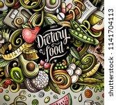cartoon vector doodles diet... | Shutterstock .eps vector #1141704113