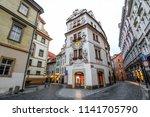 prague  czech republic  ... | Shutterstock . vector #1141705790