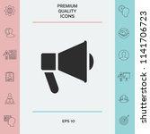 speaker  bullhorn icon | Shutterstock .eps vector #1141706723