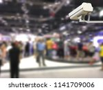 image of cctv security camera... | Shutterstock . vector #1141709006