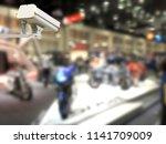 image of cctv security camera... | Shutterstock . vector #1141709009