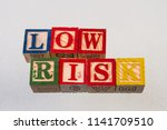the term low risk visually... | Shutterstock . vector #1141709510