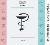 pharmacy symbol medical snake... | Shutterstock .eps vector #1141709663