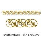golden  ornamental segment  ... | Shutterstock . vector #1141709699